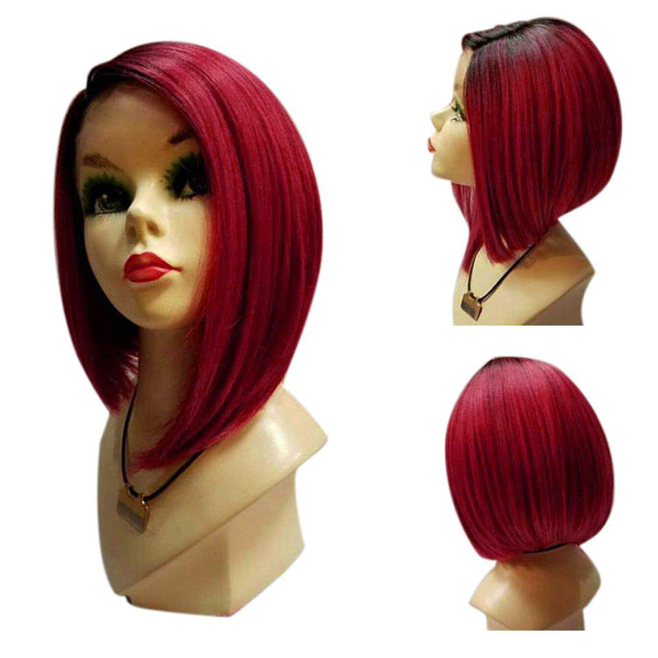 Medium Side Parting Straight Bob Ombre Synthetic Wig 243122301