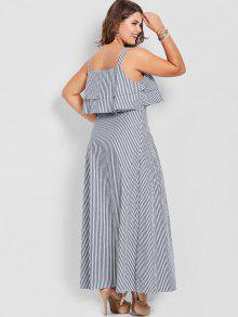 699e726ad8 44% OFF  2019 Overlay Plus Size Striped Maxi Dress In STRIPE