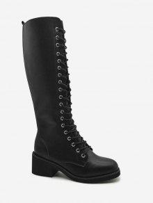 ربط الأحذية منتصف الساق التعادل - أسود 38