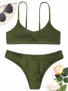 Conjunto De Bikini Desgastado Scoop - Verde Del Ejército S