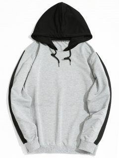 Two Tone Hoodie - Gray L
