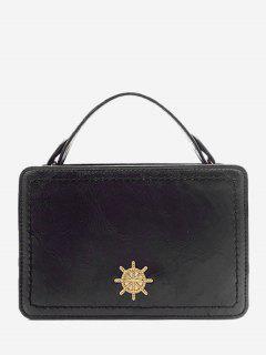 Metal Embellished Mini Crossbody Bag - Black