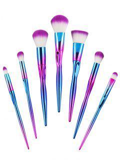 Sistema De Cepillo Del Maquillaje Del Pelo De La Fibra Del Color Del Gradiente 7Pcs - Color