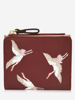 Bi Fold Birds Embroidery Wallet