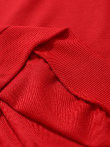 Rojo Costura Sudadera Cuello Redondo 2xl qBwgRTH