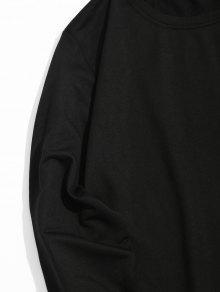 Negro Contraste En Sudadera Contraste 2xl Cuello Con Halter De apnwqa4C