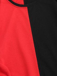 Con De Cuello Con Rojo Negro Sudadera Xl Dos Redondo Tonos qRv0wZ