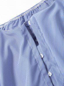 Cuadros L Fuera Hombros De De Blusa La Azul De 78BgqP