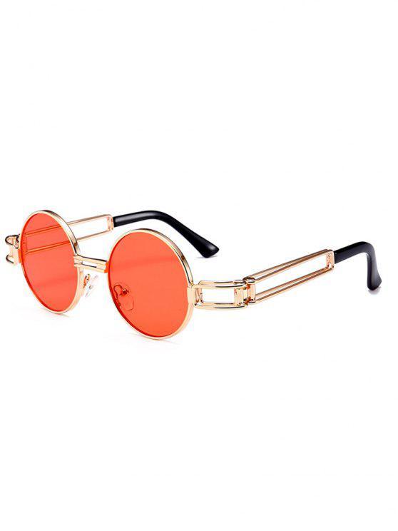 Occhiali da sole rotondi con decorazione Full Frame in metallo Hollow Out - Giacinto