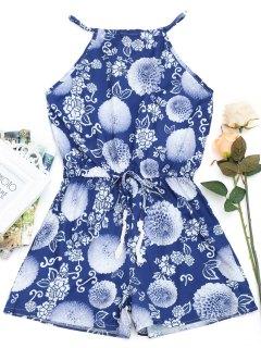 Blumendruck Ausgeschnitten Cami Strampler - Blumen L