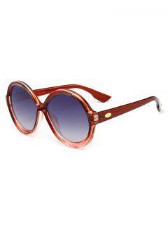 Gafas De Sol Redondas Decoradas Con Marco Completo Antifatiga - Vino Rojo