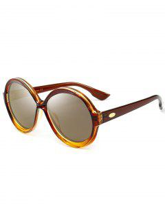 Anti-fatigue Full Frame Decorated Round Sunglasses - Luxury Gold Color