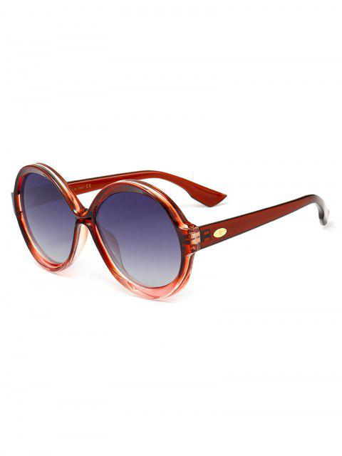 latest Anti-fatigue Full Frame Decorated Round Sunglasses -   Mobile