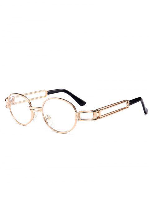 Aushöhlen verzierte volles Rahmen-ovale Sonnenbrille des Metalls - clear weiß  Mobile