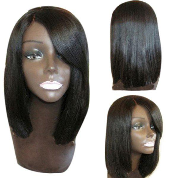 Side Parting Straight Medium Bob Synthetic Capless Wig 244026201