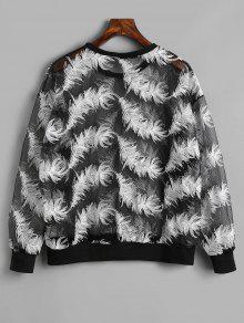 Feather Sheer Sheer Negro Feather Sweatshirt Negro Sweatshirt FIRwB16q