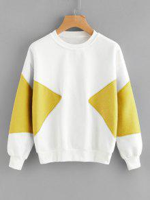 Piped Two Tone Sweatshirt - Dunkel Gelb S
