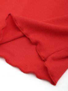Hombros Rojo Descubiertos Recortado Top Con S wzvExIq