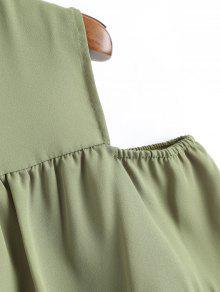 L Blusa Manga Verde Gasa Vuelo Corta Guisante Y Con De 11qwrz