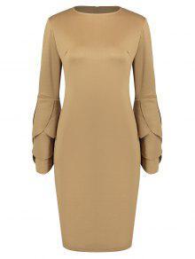 فستان ملائم دائرة الرقبة  - جمل M