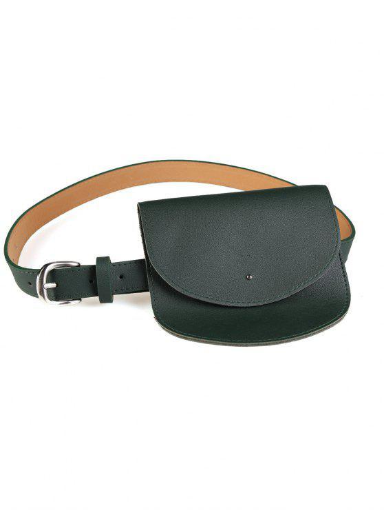 fashion Mini Bag Decoration Faux Leather Waist Belt - GREEN
