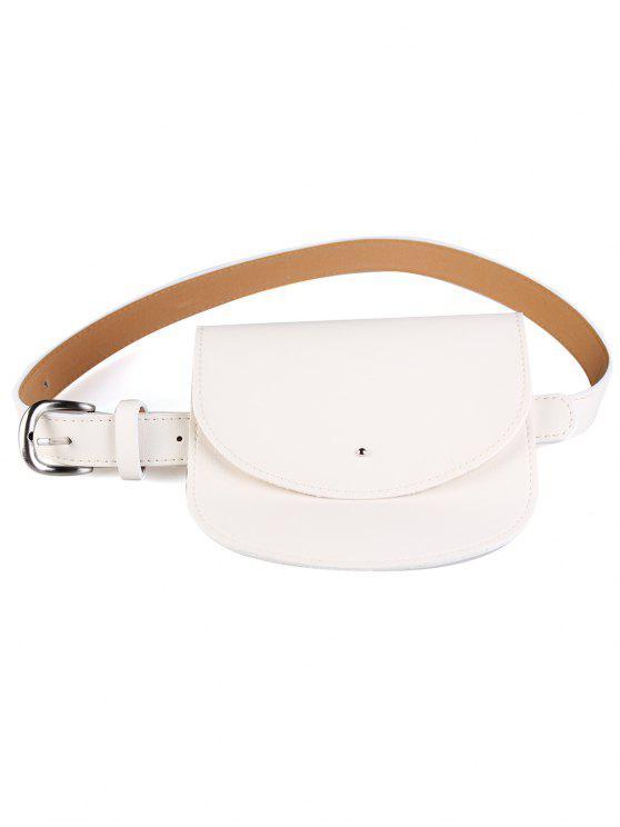 fancy Mini Bag Decoration Faux Leather Waist Belt - GLITTER CREAMY WHITE