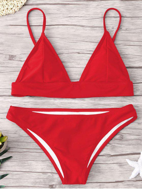 ZAFUL Padding Bikini Set - Rojo S