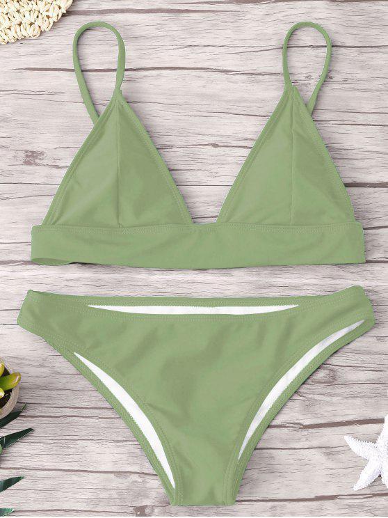 ZAFUL Padding Bikini Set - Erbsengrün S