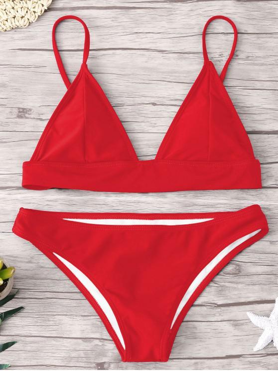 shop ZAFUL Padding Bikini Set - RED S
