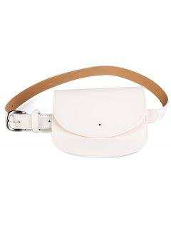 Mini Bag Decoration Faux Leather Waist Belt - Glitter Creamy White