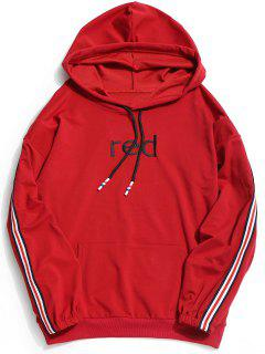 Graphic Striped Hoodie - Red Xl