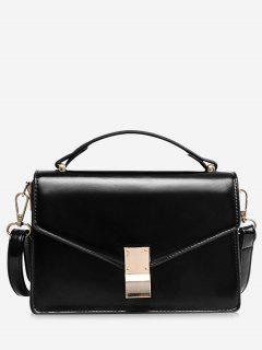Bolsa De Sobre En Forma De Mini Cross Body - Negro