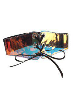 Funny Translucent Pattern Elastic Wide Waist Belt