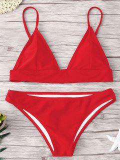 Conjunto De Bikini Acolchado - Rojo L