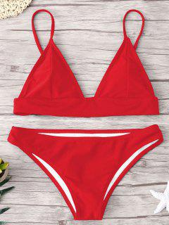 Ensemble De Bikini Rembourré ZAFUL - Rouge S