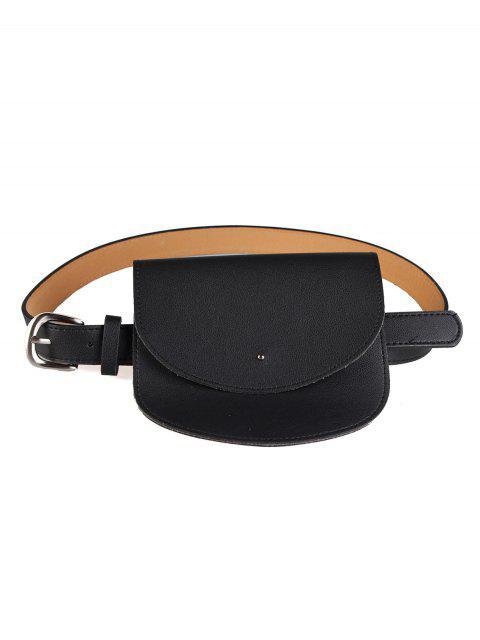 Mini Bag Decoration Cinturón de cuero de imitación de la cintura - Negro  Mobile