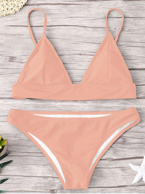Conjunto de Bikini acolchado - Rosa beige  S Mobile