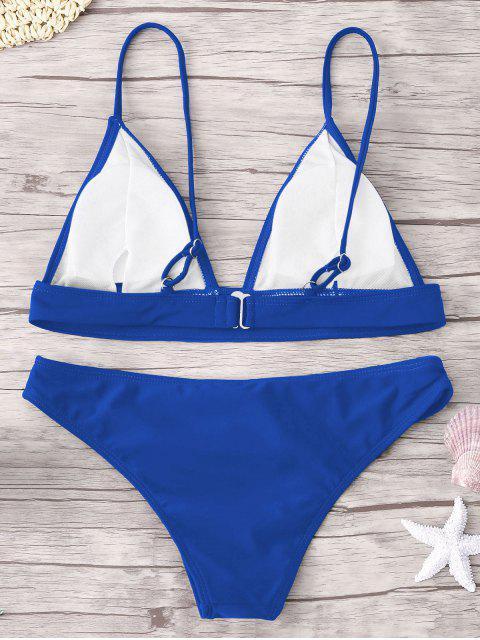 fashion ZAFUL Padding Bikini Set - ROYAL L Mobile