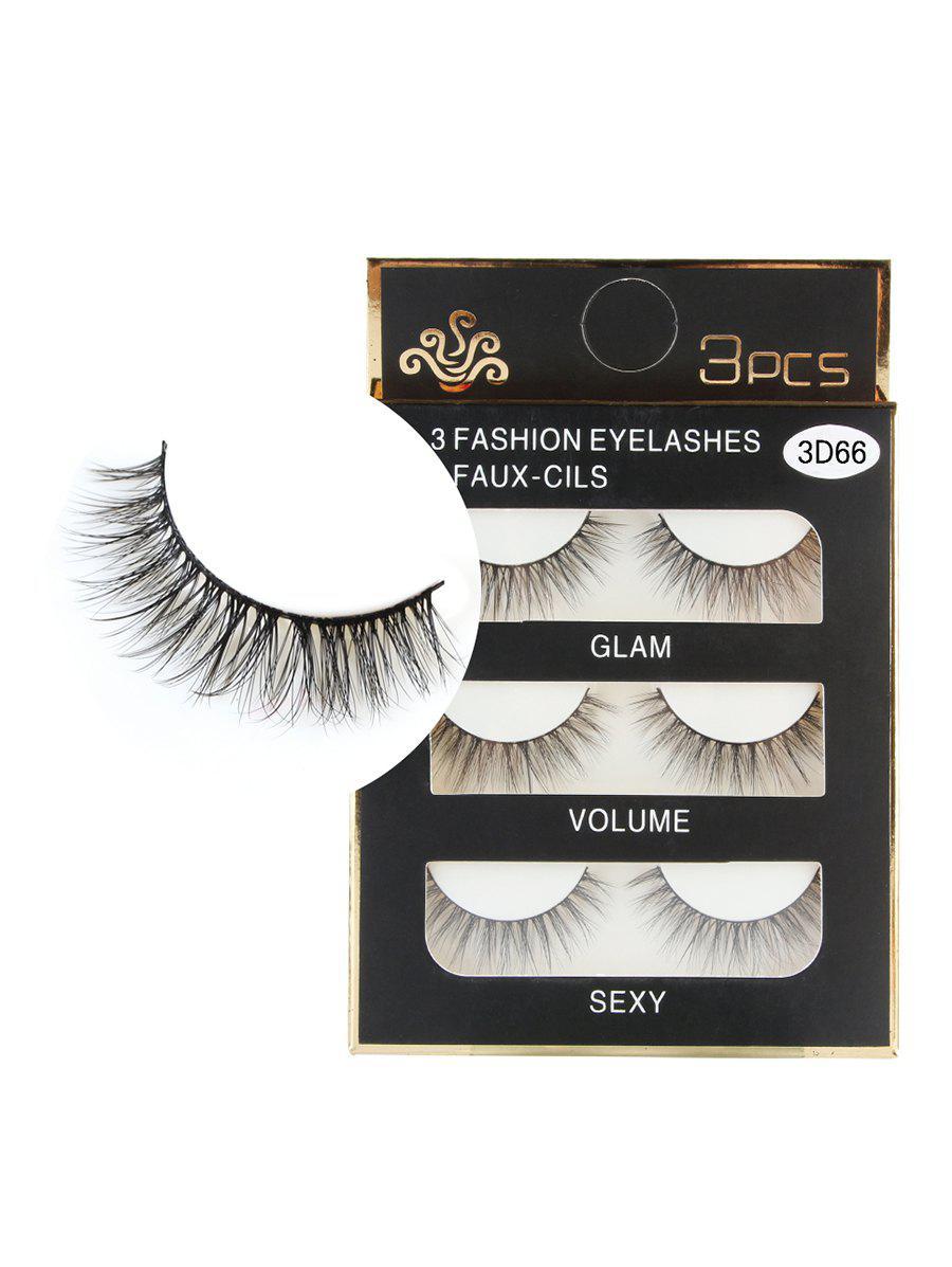 3 Pairs Natural Soft Long Extension Faux Eyelashes