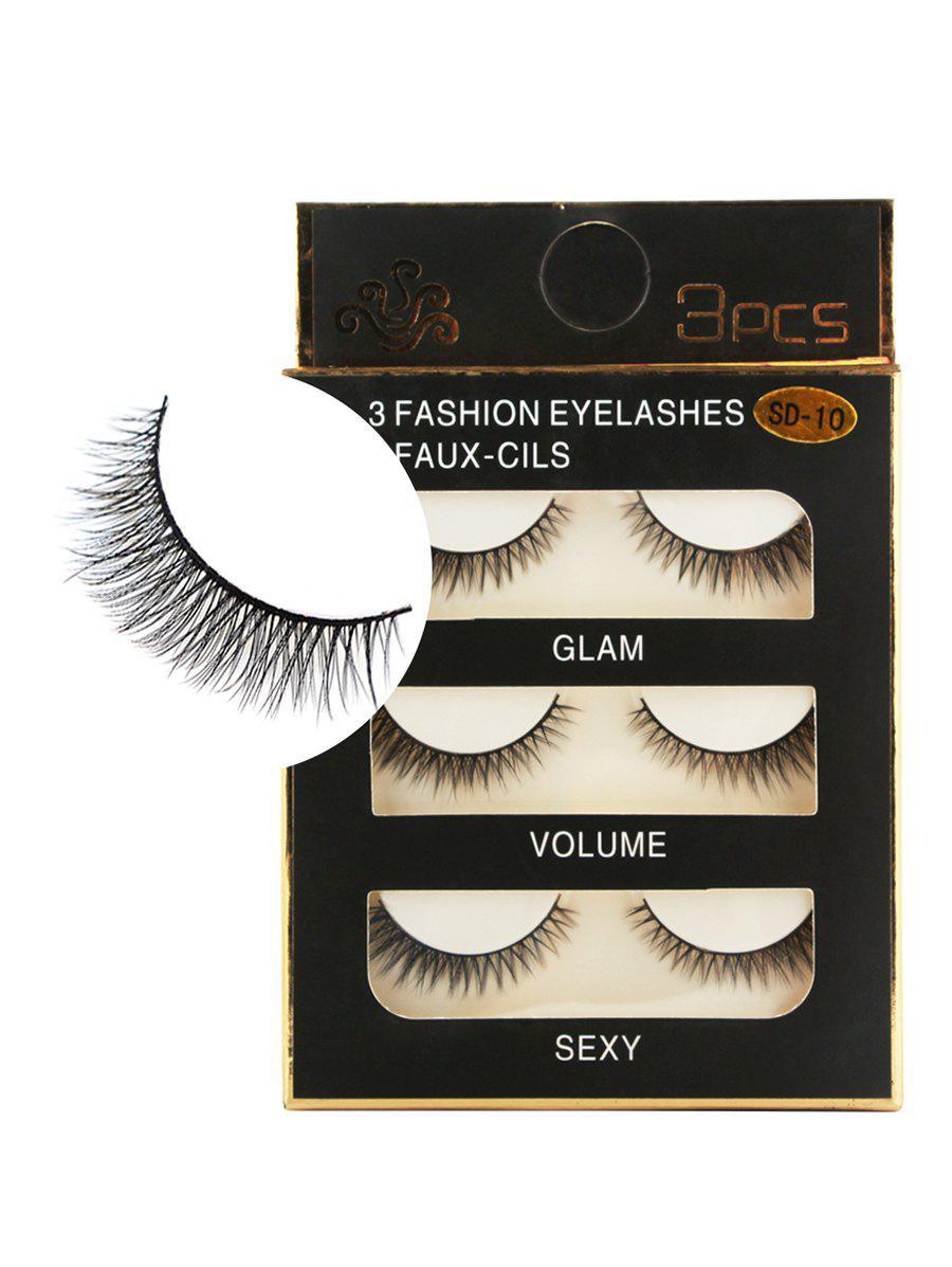 3 Pairs Handmade Natural Curving Fake Eyelashes 244389601