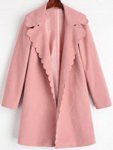 معطف طية الصدر مفتوحة المقدمة  - زهري M
