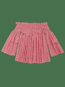 Rojo S Corta Y Con Minifalda Manga Hombros Descubiertos nXYdv0x