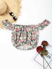 Aus Der Schulter Floral Crop Bluse - Blumen M