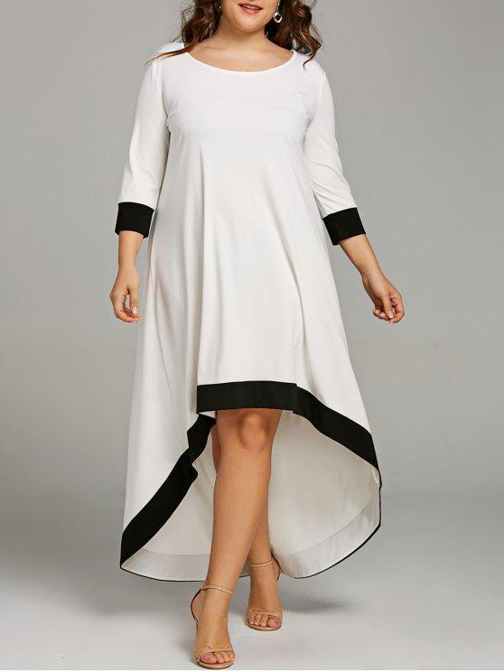34% OFF] 2019 Plus Size High Low Maxi Dress In WHITE | ZAFUL