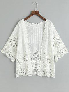 Crochet Cover Up Haut - Blanc