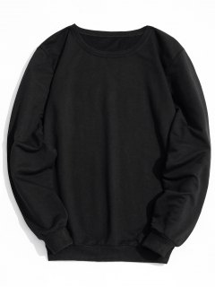 Label Crew Neck Sweatshirt - Black L