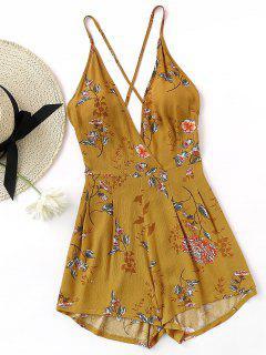 Camisa De Criss Cross Cami Con Estampado Floral - Floral M