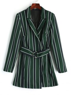 Tiered Belted Stripes Strampler - Streifen  L