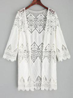 Crochet Kimono Cover Up - Blanco