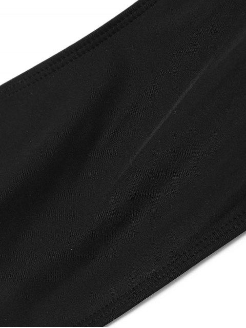 Bikini Rembourré à Bretelles à Coupe Haute - Noir M Mobile